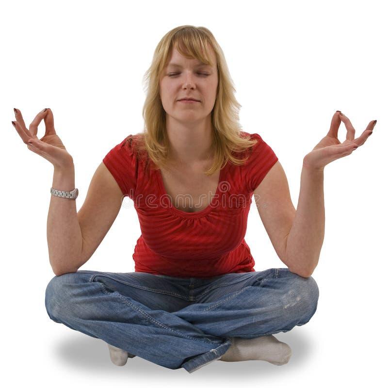meditation1 arkivbild