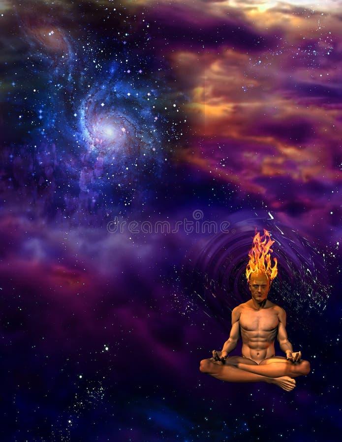 meditationmening vektor illustrationer