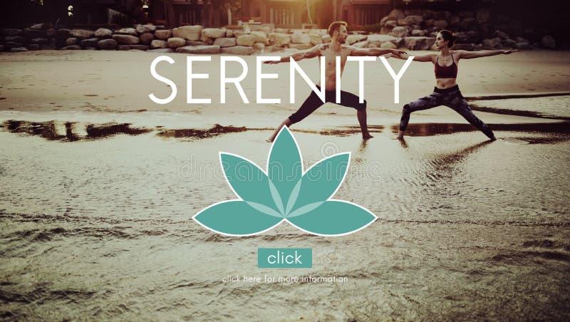 Meditations-Balancen-Yoga Zen Serenity Relaxation Concept stockfotografie