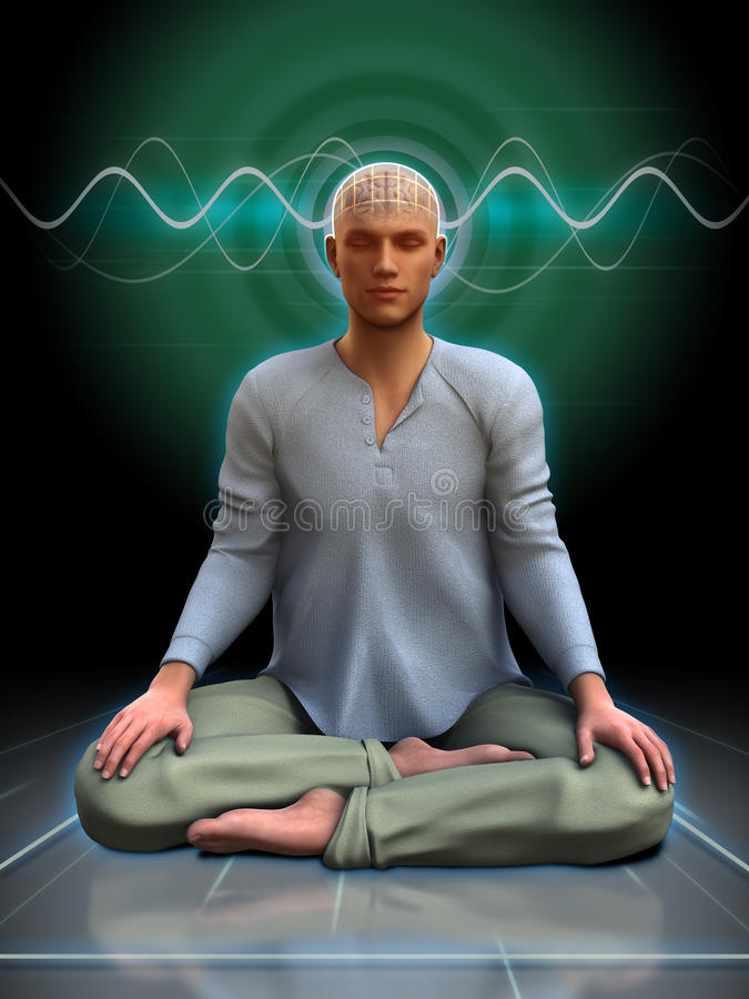 Meditationsnilleblixtar vektor illustrationer