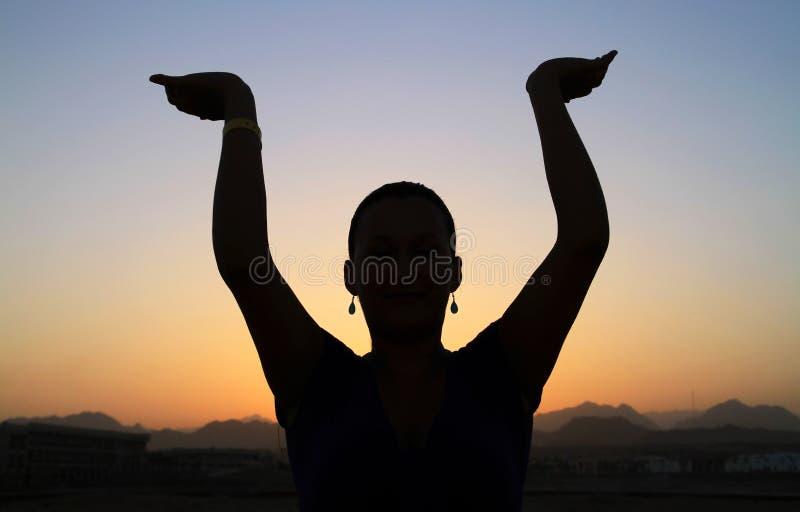 Meditationsolnedgång Fotografering för Bildbyråer