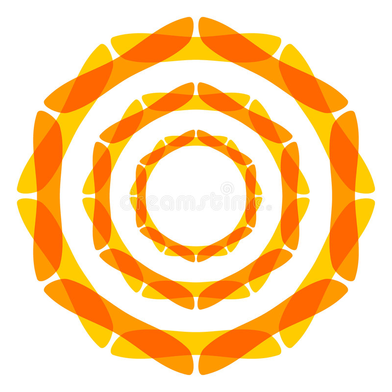 meditationsymbol vektor illustrationer