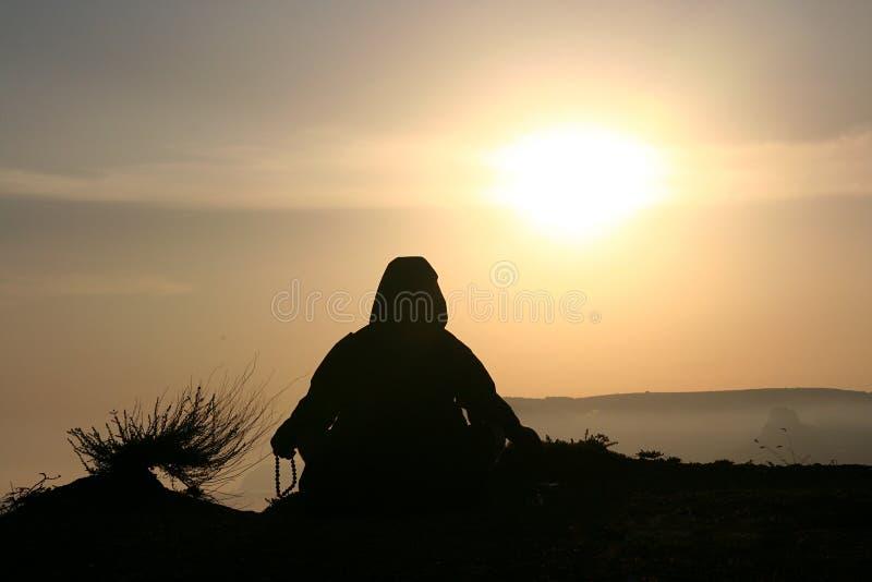 meditationtid royaltyfri foto