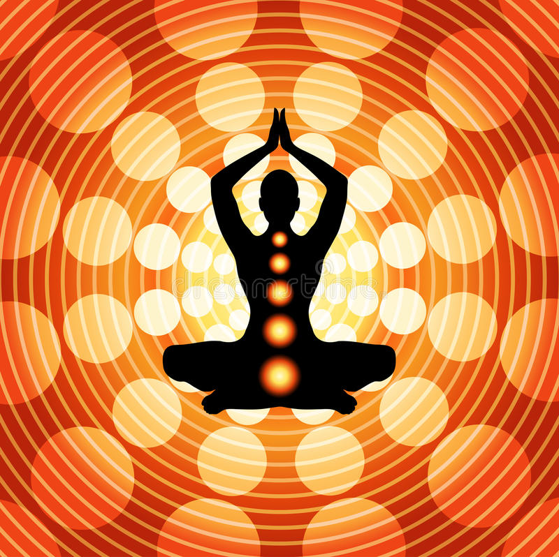 meditationyoga stock illustrationer