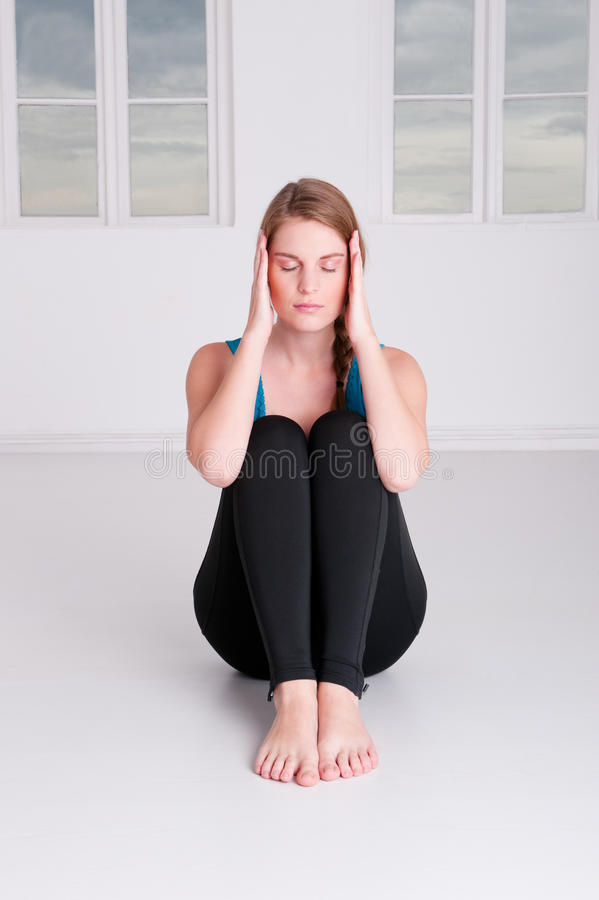 Meditationzeit lizenzfreie stockbilder