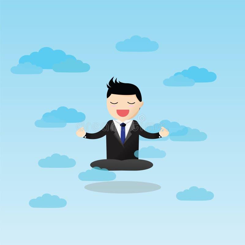 Meditativ affärsman Concept stock illustrationer