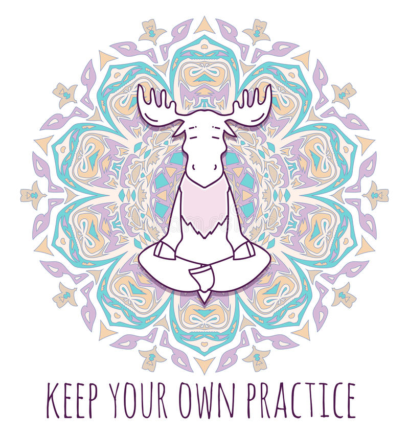 Meditative Animals series. royalty free illustration