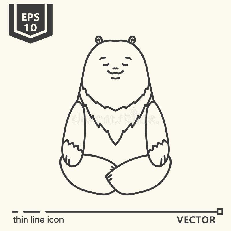 Meditative Animals series - bear royalty free stock images