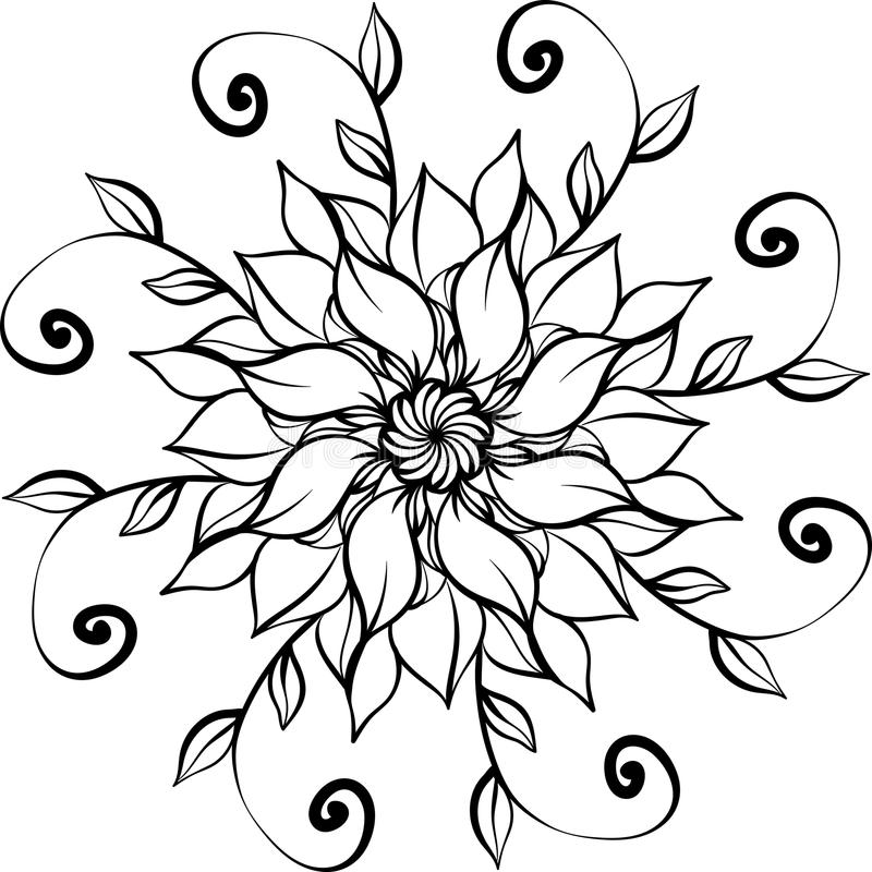 Meditative Coloring Page For Adults Stock Vector ...