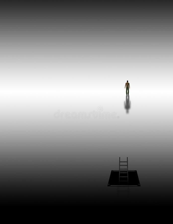meditative resa vektor illustrationer