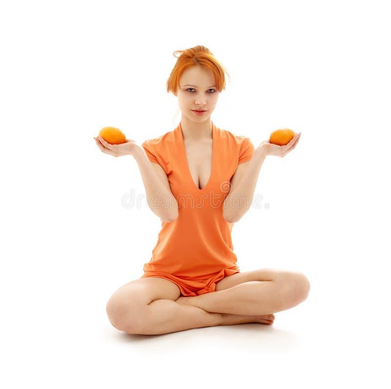 Meditaton arancione fotografia stock libera da diritti