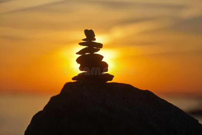 Meditazione al litorale immagine stock libera da diritti