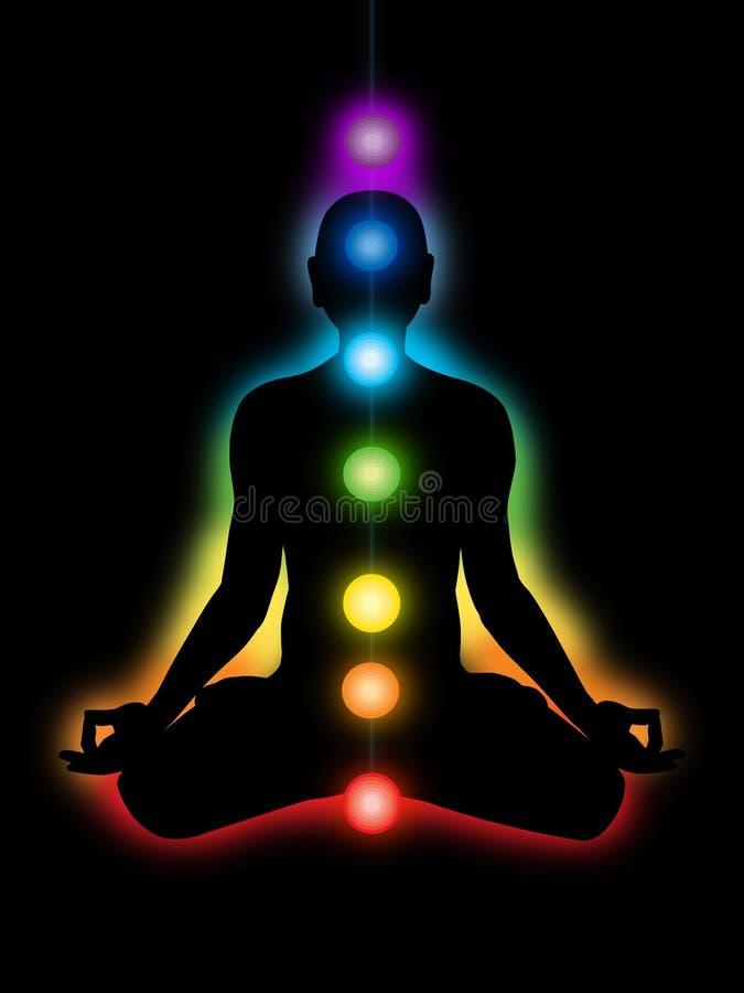Meditazione, chakras royalty illustrazione gratis