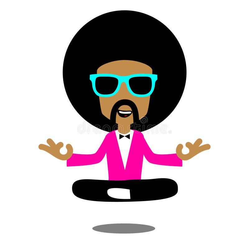 Meditazione di afro royalty illustrazione gratis