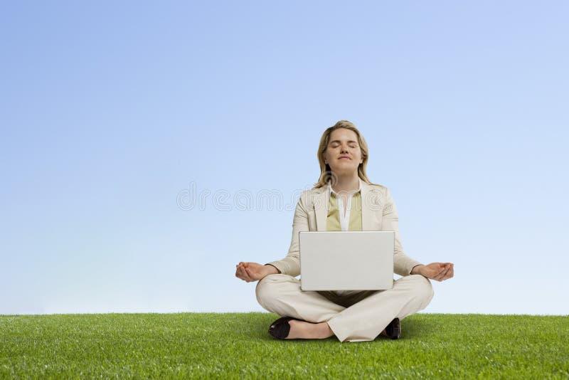 Meditazione di motivazione fotografia stock