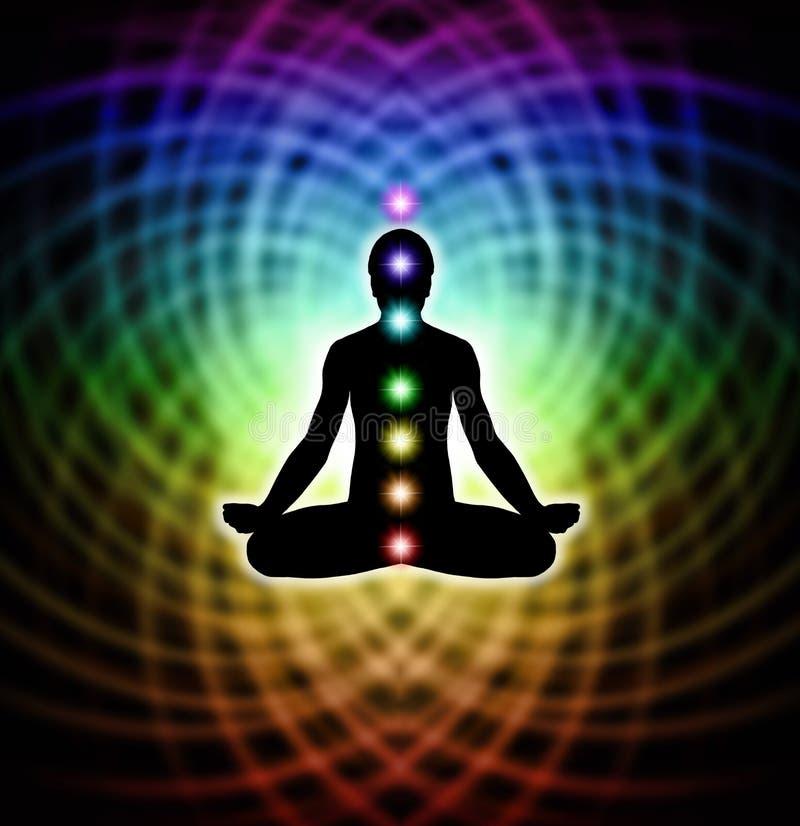 Meditazione nella matrice illustrazione di stock