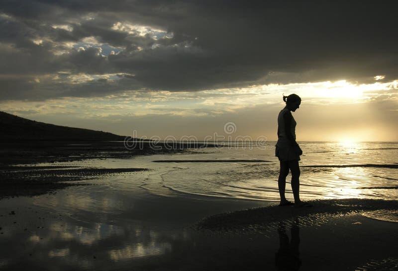 Download Meditazioni immagine stock. Immagine di preghiera, dusk - 218109