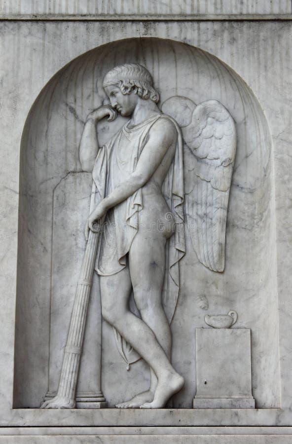 Meditera ängel arkivfoto