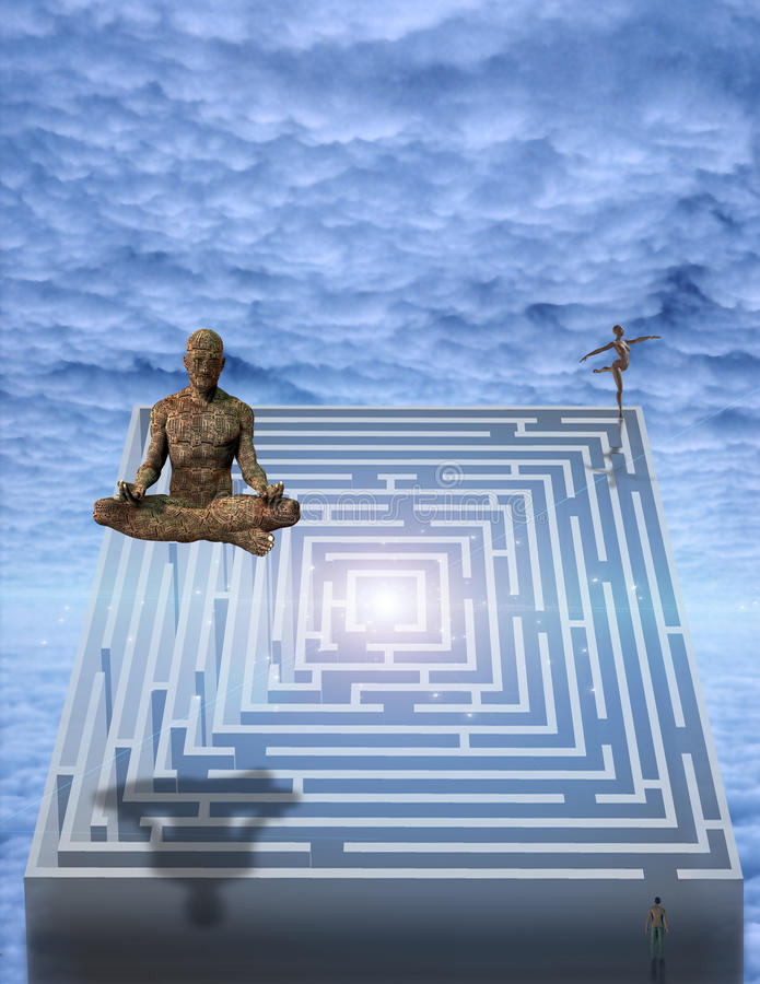 meditera vektor illustrationer