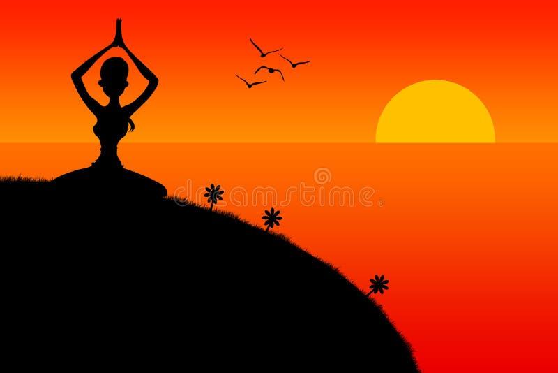 meditera stock illustrationer