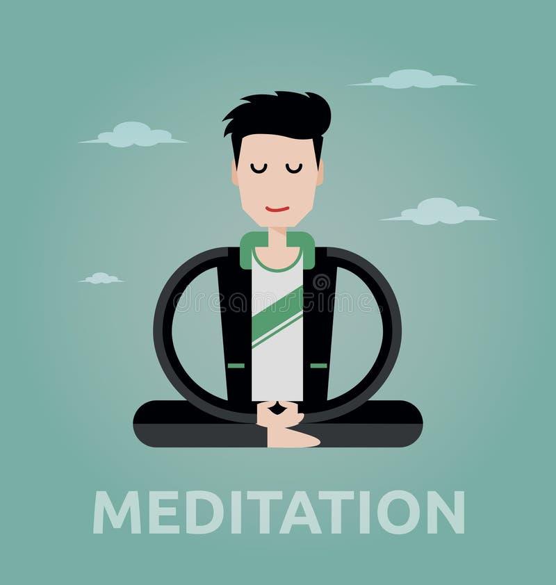 Meditera affärsman stock illustrationer