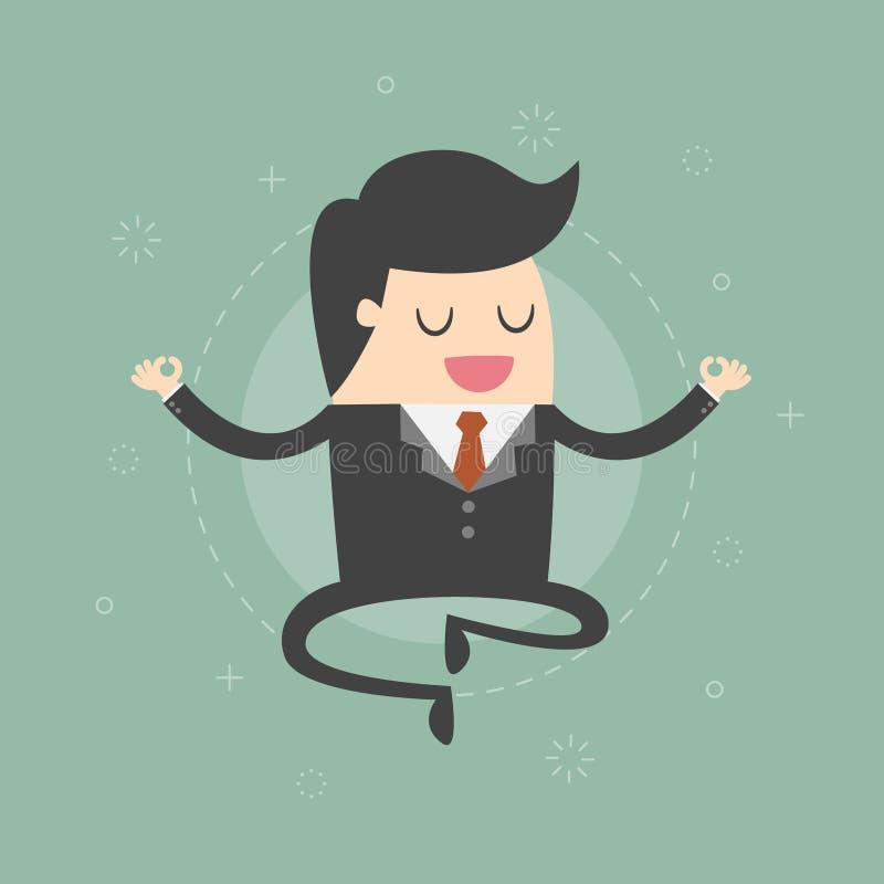 Meditera affärsman vektor illustrationer