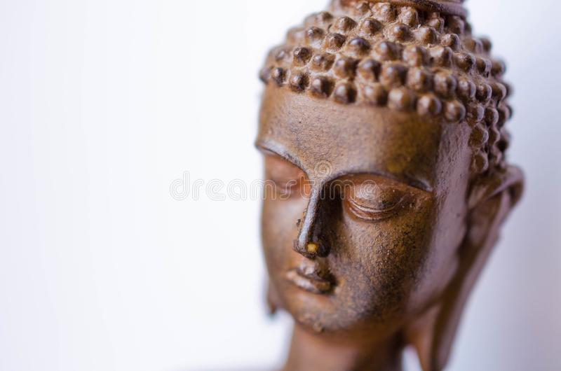 Meditera Buddhahuvudet royaltyfria foton