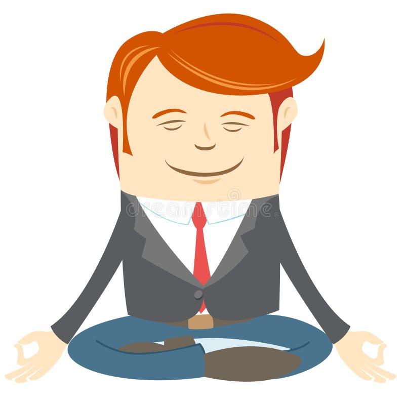 Meditera för kontorsman royaltyfri illustrationer