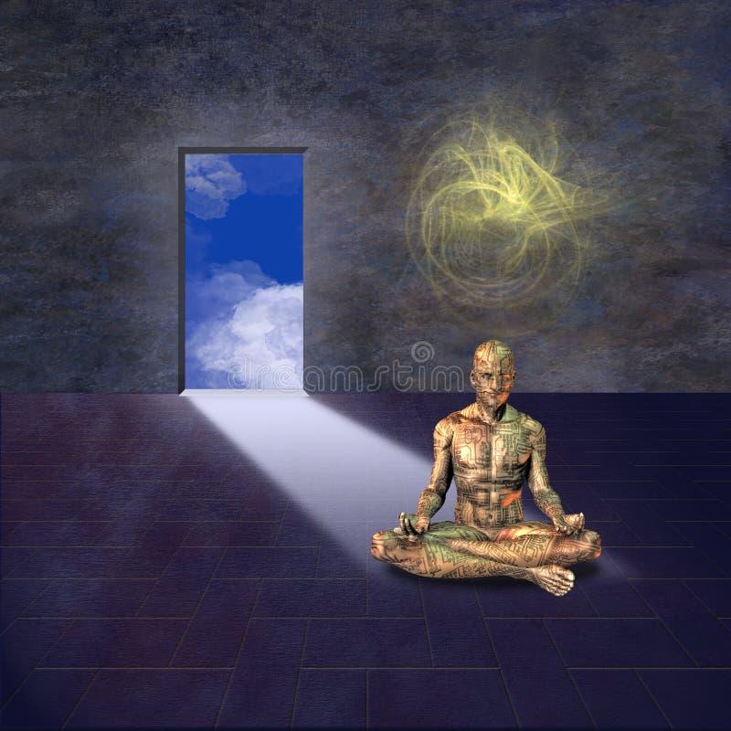 meditera för man vektor illustrationer