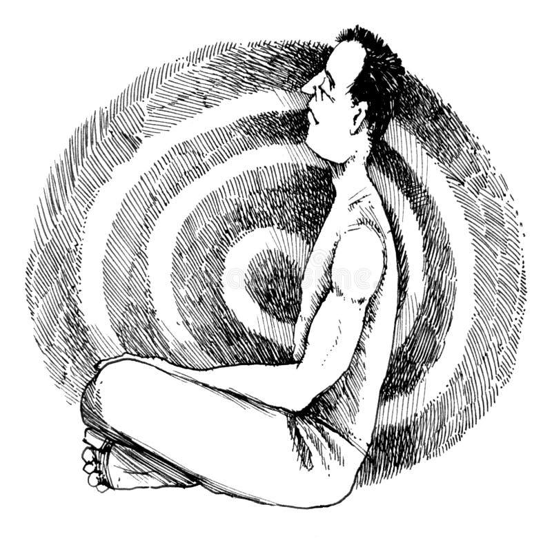 meditera för man royaltyfri illustrationer