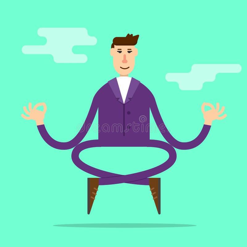 Meditera f?r aff?rsman stock illustrationer