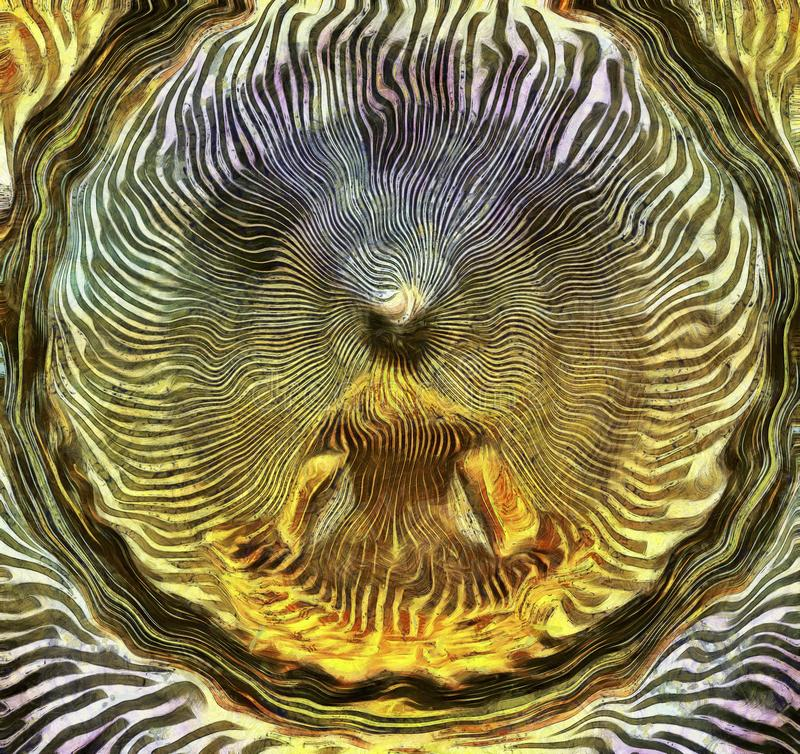 meditera f?r man stock illustrationer