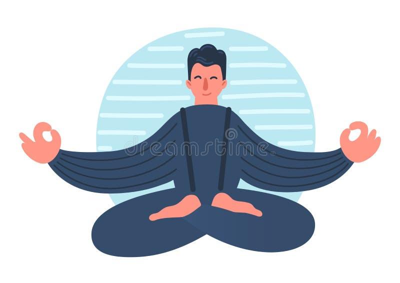meditera f?r man vektor illustrationer