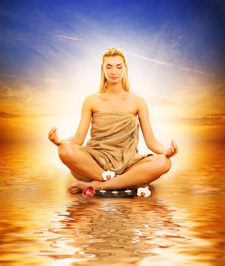 meditera havskvinna royaltyfri bild