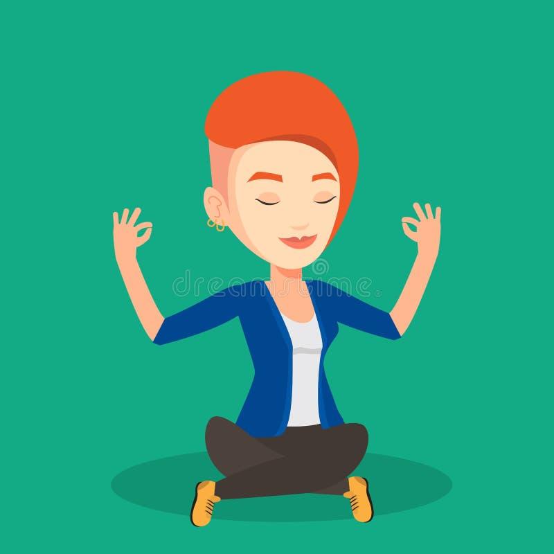 meditera pos stock illustrationer