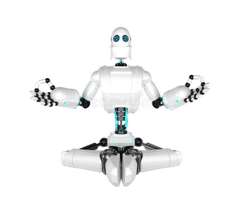 meditera robot vektor illustrationer