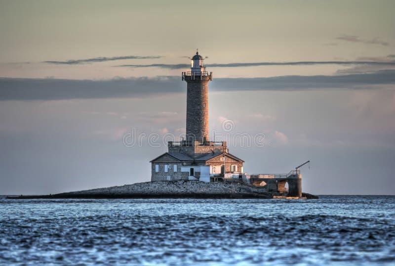 Mediteran de la Croatie de Mer Adriatique de phare de Porer image stock