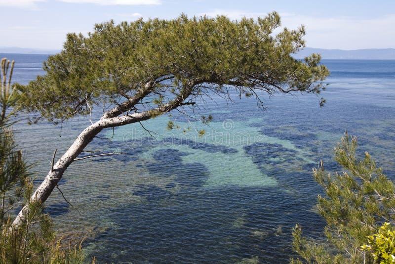 mediteranean全景海运视图 免版税库存照片