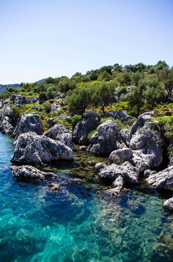 2 mediterrâneos azuis claros fotos de stock royalty free