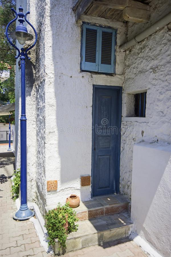 Mediterraan huisdetail stock foto