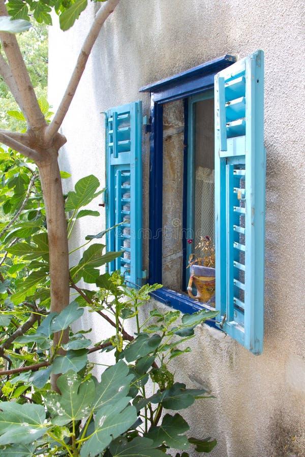 Mediterraan venster royalty-vrije stock foto's