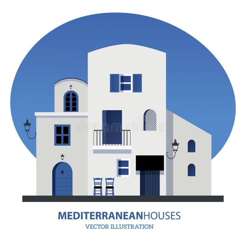 Mediterrane Huizen Vector illustratie vector illustratie