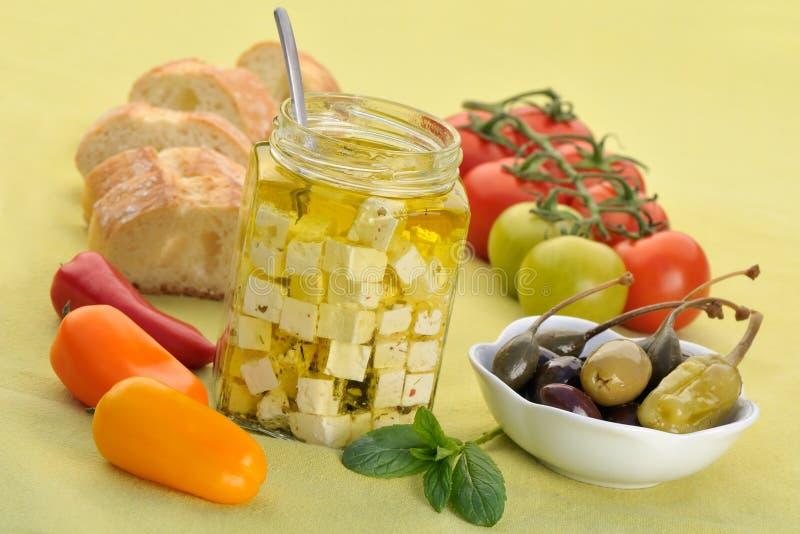 Mediterrane ingrediënten stock fotografie