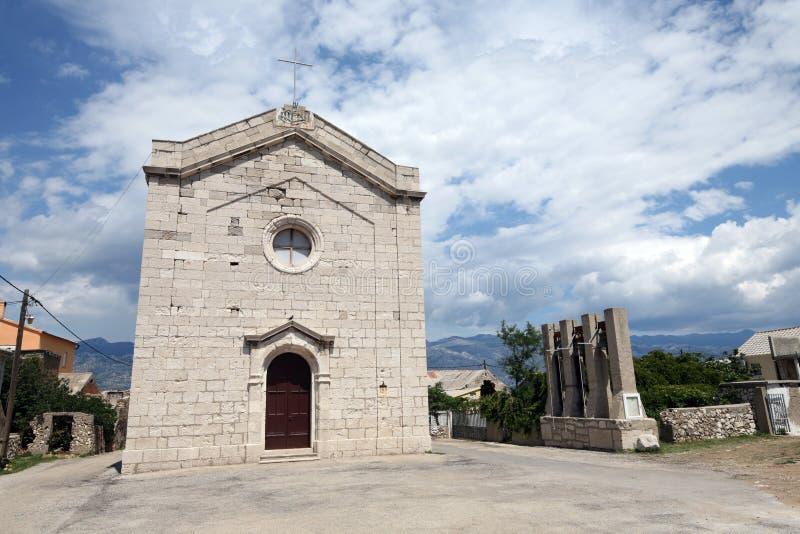 Mediterrane kerk royalty-vrije stock foto
