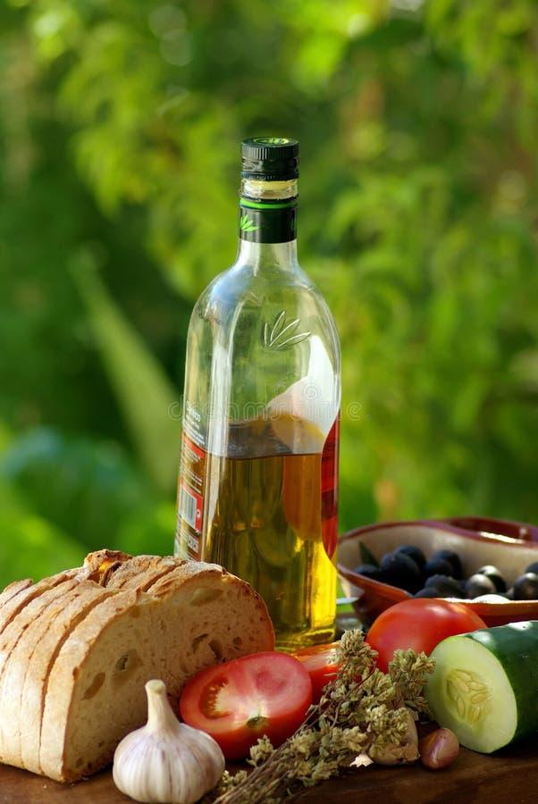 Mediterrane keuken. stock afbeeldingen