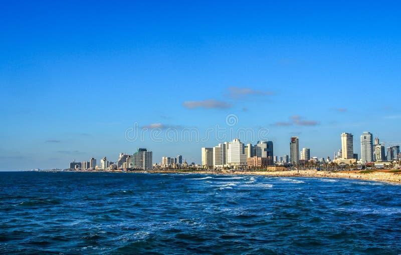 Mediterrane kust van Tel Aviv, Israël stock afbeeldingen