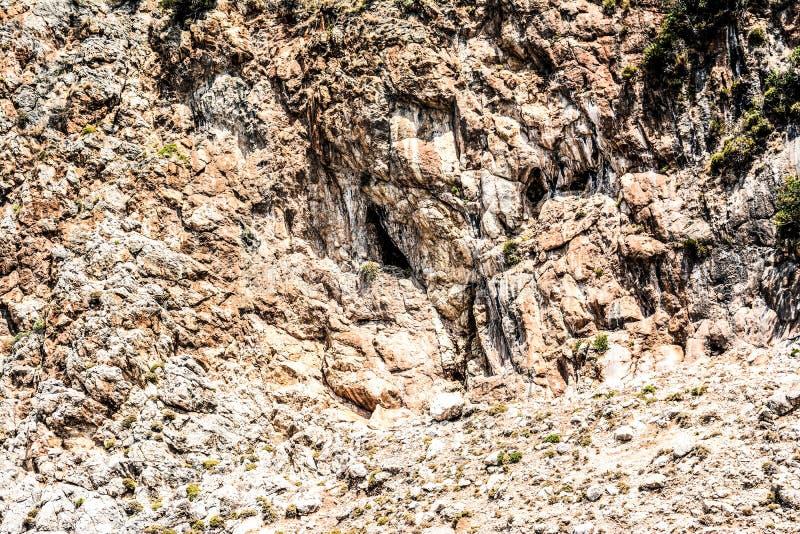 Mediterrane rotsen en oceaan in Turkije stock fotografie