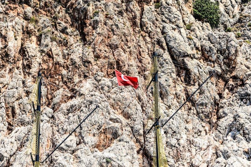 Mediterrane rotsen en oceaan in Turkije royalty-vrije stock foto's