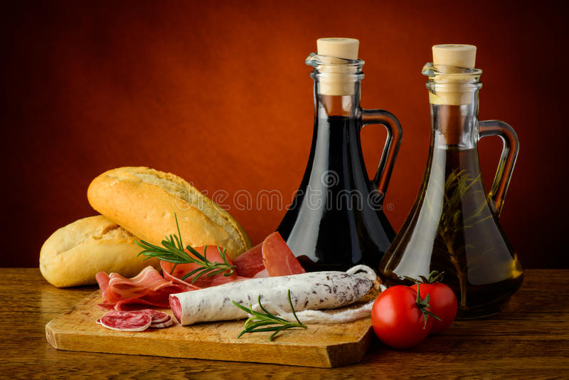 Mediterrane snack royalty-vrije stock fotografie