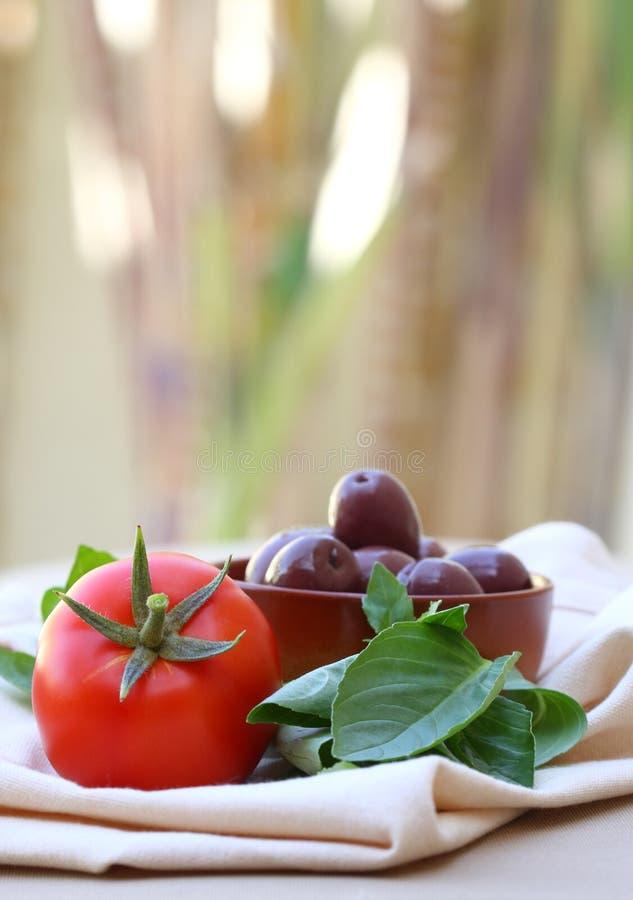 Mediterrane Snack in openlucht royalty-vrije stock foto